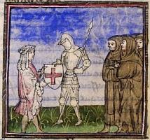 Galahad et ses armoiries